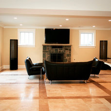 Contemporary Basement by John Linam Jr, Architect, PLLC