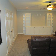 Traditional Basement by True Carpentry and Cabinetry