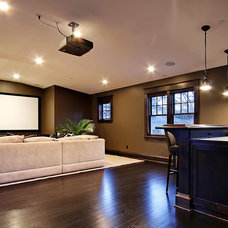 contemporary basement by Paul Moon Design
