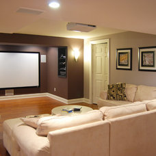 Traditional Basement by Home Design Center