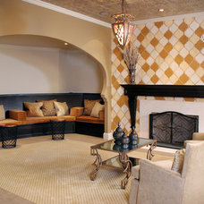 Mediterranean Basement by House of L Interior Design
