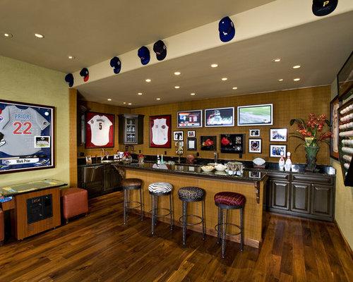 Basement Decorating Sport Theme Home Design Ideas