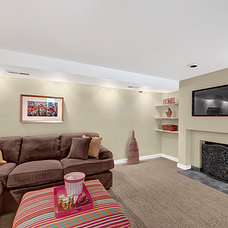 Traditional Basement by Seattle Staged to Sell and Design LLC