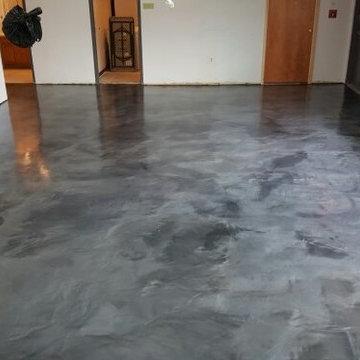 Metallic Basement Floor