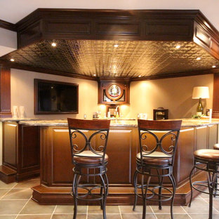 Inspiration for a contemporary basement remodel in Tampa
