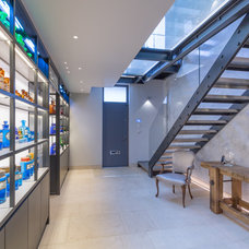Contemporary Basement by George Fielding Photography