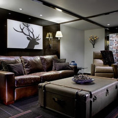 eclectic basement by Pavilack Design