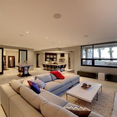 Contemporary Basement by Turnquist Design
