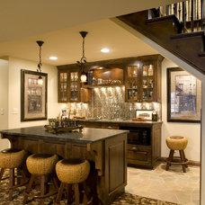 Contemporary Basement by Alexander Design Group, Inc.