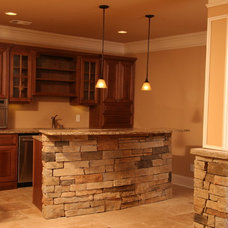 Traditional Basement by High Country Cabinets