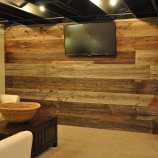 Rustic Basement by Modern Urban Woods