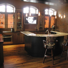 Traditional Basement by Woodmaster Kitchens