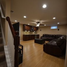 Modern Basement by ACH Group LLC