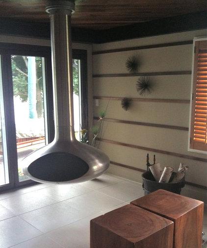 Modern Basement by Mindi Freng Designs