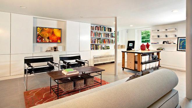 Modern Basement by Studio 1200