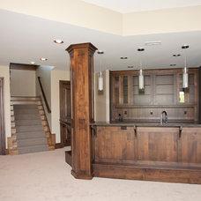 Modern Basement by Wende Woodworking LLC