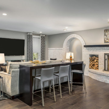 Modern Comfort - Basement Says Goodbye to Its Traditional Roots