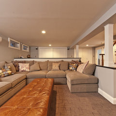 modern basement by DJ's Home Improvements