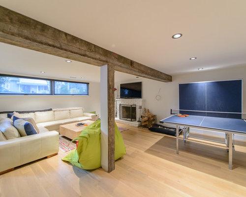 hochkeller mit kaminsims aus backstein einrichten ideen houzz. Black Bedroom Furniture Sets. Home Design Ideas