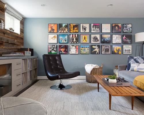 midcentury basement design ideas pictures remodel decor