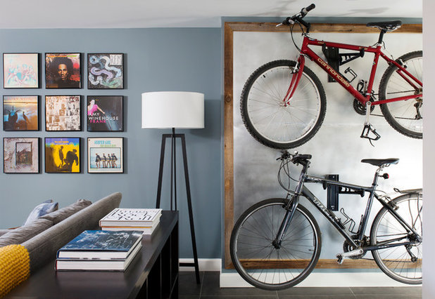 Midcentury Basement by Arlington Home Interiors