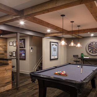 Modern Rustic Games Room - Just Basements