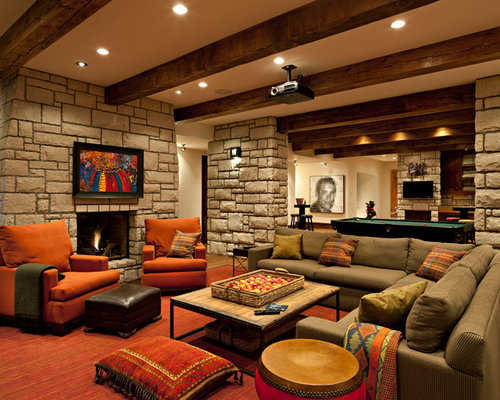 Best Cozy Basement Design Ideas Amp Remodel Pictures Houzz