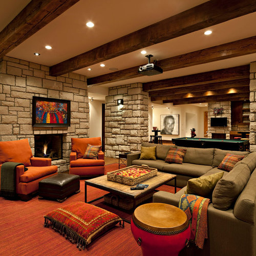 Cozy Basement Houzz