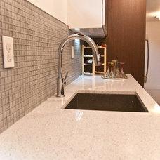 Modern Basement by Paul Lopa Designs