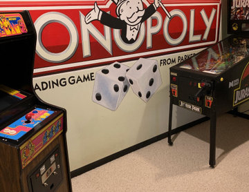 Monopoly Game Hand Painted Murals in Lower Level by Tom Taylor of Mural Art LLC