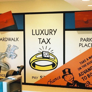 Monopoly Mural in Lower Level by Tom Taylor of Wow Effects