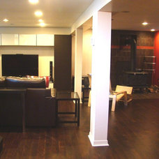 Contemporary Basement by Versa Style Design