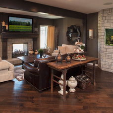 Eclectic Basement by Malbec Homes & Renovations Inc.