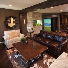 Traditional Basement by Malbec Homes & Renovations Inc.