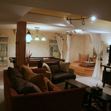 Mediterranean Basement by Design By Alicia