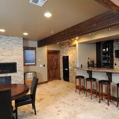 contemporary basement by StoneTek