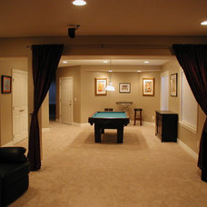 Traditional Basement by Markim Construction, LLC