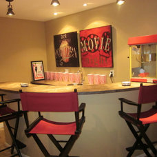 Traditional Basement by Jeannette Wisby, principal at DESIGN SAVVY