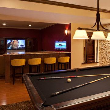 Movie Room, Bar, and Billiards Room