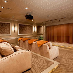 traditional basement by Custer Design Group