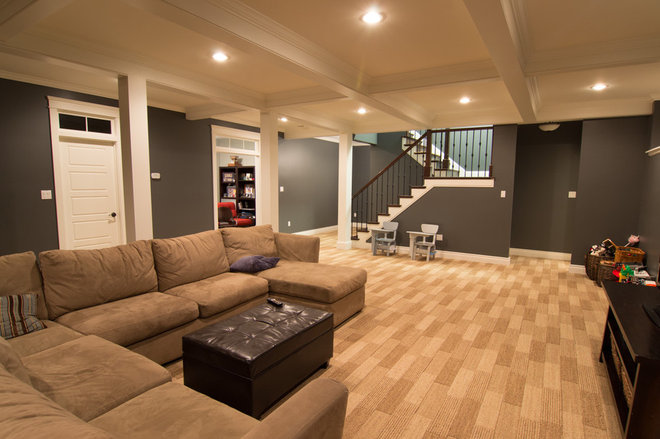 Traditional Basement by Craftsman Construction