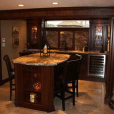 Traditional Basement by CCR Building and Remodelling