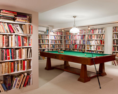 7 Basement Ideas On A Budget Chic Convenience For The Home: Basement Library Home Design Ideas, Pictures, Remodel And
