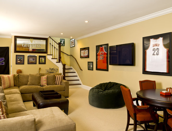 Traditional Basement by Cynthia Lynn Photography