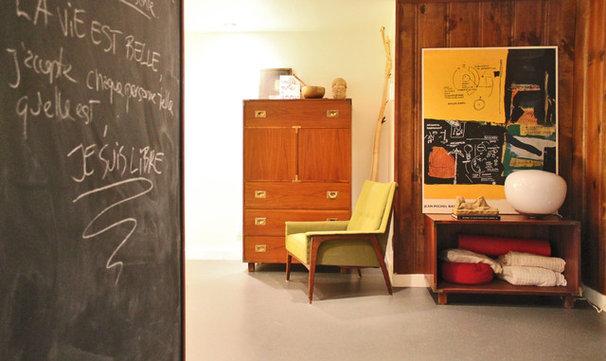 Eclectic Basement by Laura Garner