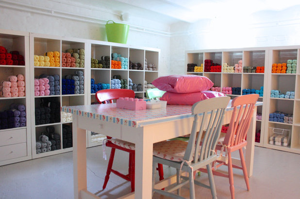 Eclectic Basement by Holly Marder