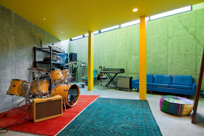 Contemporary Basement by Lucy Call