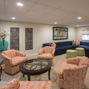 Navy & Orange Rec Room