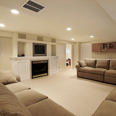 Traditional Basement by Neil Graham