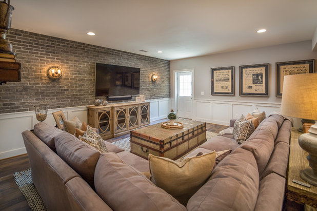 Traditional Basement by The Suite Shoppe Interiors